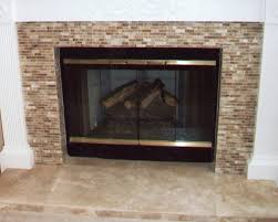 Travertine Fireplace Tile by Fireplace Remodel Stone U0026 Travertine With Moldings Added To Side
