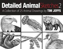 detailed animal sketches 3 a coloring collection by tim jeffs