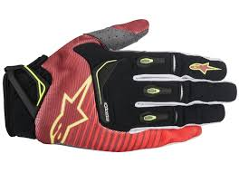 gloves motocross alpinestars techstar factory gloves motocross motorcycle red black