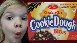 cookie dough bites kid candy reviews babyteeth4 youtube
