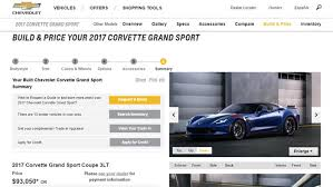 corvette build and price 2017 corvette stingray and grand sport configurator is now live