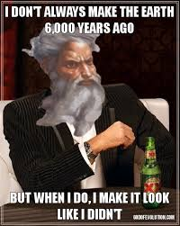 Creation Memes - another meme about the most interesting god in the world god of