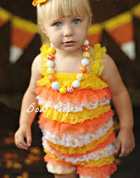 Infant Girls Halloween Costumes Aliexpress Buy Baby Candy Corn Lace Romper Halloween Lace