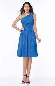 royal blue simple sleeveless zipper knee length ribbon plus size