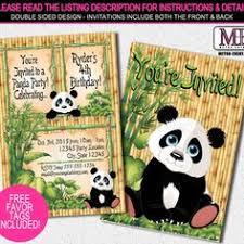 panda invitation panda party invitation panda party invite