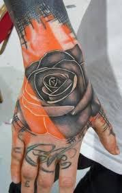 trash polka rose tattoo on hand by phatt german tattoos book