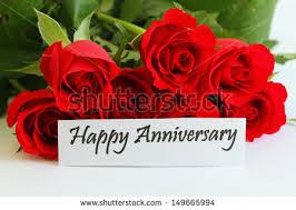 happy anniversary cards happy anniversary card roses stock photo 149665994