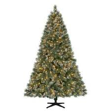 where to buy brown christmas tree martha stewart living 7 5 ft pre lit led sparkling pine set