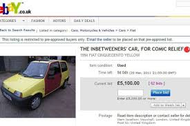 ebay motors uk the inbetweeners car on ebay could this be the uk s most expensive