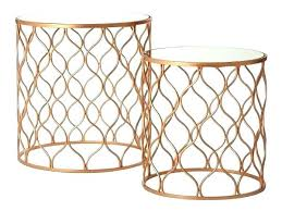 gold metal side table gold side table aluminum marble accent table in gold gold metal side