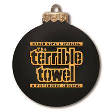 pittsburgh steelers ornament bulb terrible towel black
