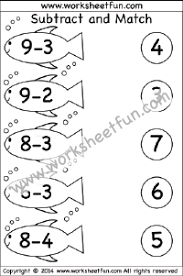 subtraction u2013 1 digit free printable worksheets u2013 worksheetfun