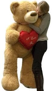 big teddy valentines day i you teddy 5 foot soft 60 inch