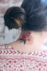 28 small neck tattoos for styleoholic - Back Neck Tattoos For