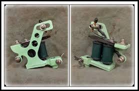 george keeler j frame tattoo machine green shader bicknee