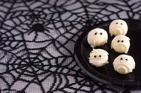 halloween mummy background white chocolate mummy truffles by the redhead baker