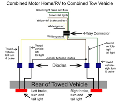 wiring diagram for trailer tail lights circuit and schematics
