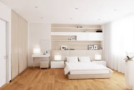 white cream bedroom a low level bed allows the room scheme to