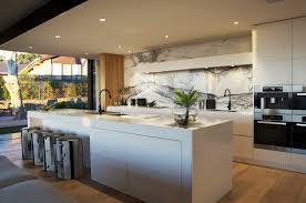 Island Kitchen Designs Love The Drawers The Splash Back And The Wood Panelling Kitchen