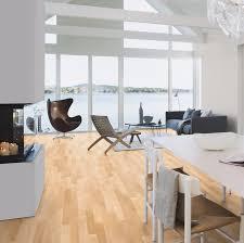 Andante Natural Oak Laminate Flooring Boen Canadian Maple Andante 3 Strip Engineered Wood Floor