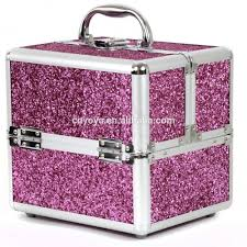 bling bling aluminum makeup train case for makeup jewelry nail