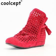 womens boots toe coolcept boots big size 34 43 cutout flat toe low
