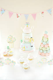 alice in wonderland themed birthday party cake table chérie kelly