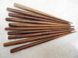 hair sticks set of 10 wooden hair sticks six inches stained