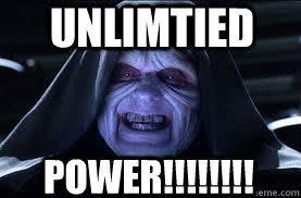 Darth Sidious Meme - unlimtied power darth sidious quickmeme