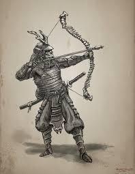 undead samurai archer sketch by freakyfir on deviantart