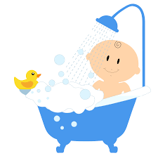 Baby Bath Tub With Shower Baby Bath Clipart Clipart Collection Bearded Father Giving The