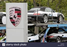 porsche cars porsche cars are pictured on a car transport at the research and