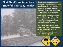 Oregon travel forecast images Winter storm warning issued for or wa 6 14 quot of snow is png
