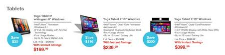 tablet black friday deals lenovo black friday 2015 ad features yoga windows tablet thinkpad