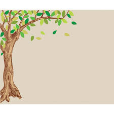 corner oak large tree decal for children