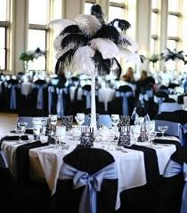 ostrich feather centerpiece find inspiration in with this black and white ostrich feather