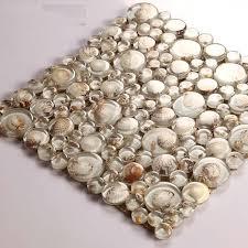 Wholesale Mosaic Tile Crystal Glass Shell Tile Backsplash Pebble Desig - Seashell backsplash