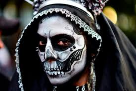 day of the dead costume thousands don terrifying costumes in preparation for ghoulish day