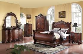 bedroom sets traditional style bedding meridian regal queen size sleigh bedroom set 5pc