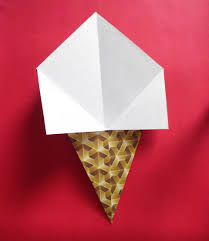 how to make an easy origami ice cream cone