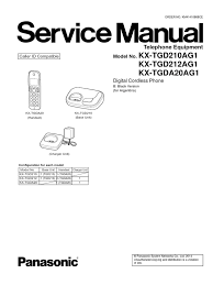 service manual kx tgd210ag1 power supply telephone