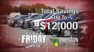 car deals black friday exclusive black friday deals at the preston autoplex ford