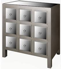 contemporary mirrored chest of drawers antique silver glass