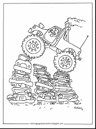 outstanding mack truck coloring pages with monster truck coloring