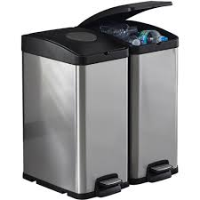 Kitchen Trash Can Ideas Furniture Gorgeous Stainless Steel Dual Compartment Deodorizer