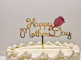 happy mothers day cake toppers rose flower custom mothers day
