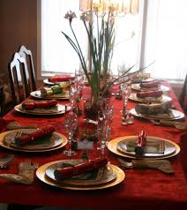 table decoration contemporary christmas party dining table