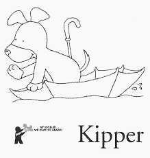 umbrella free printable kipper coloring pages