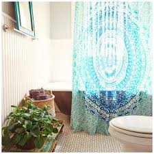 Teal Ruffle Shower Curtain by Curtains Bohemian Shower Curtains Ruffle Shower Curtain Amazon