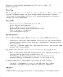 Surgical Tech Resume Samples by Professional Supply Technician Templates To Showcase Your Talent